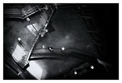 A Little Bit Of M.C.Escher (RadarO´Reilly) Tags: hamburg alterelbtunnel elbtunnel landungsbrücken stpauli germany tunnel stairs treppen sw schwarzweis bw blackwhite monochrome noiretblanc blanconegro zwartwit escher