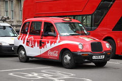 Lti TXII in Coca Cola colours (Ian Press Photography) Tags: lti txii coca cola colours london cab cabs taxi taxis international