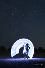 Praise (hisalman) Tags: light painting girl lady woman dark night stars milkyway hisalman canon