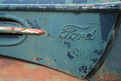A rusty Ford... (Frank ) Tags: macromondays ford rust rusty frnk car door hmm