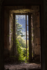 Window III (Milena Galizzi) Tags: villa de vecchi infested spirit house ghost red double entrance door window architecture abandoned forgotten