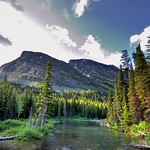 A Creek, Forest and Mountains to Take in Glacier National Park thumbnail
