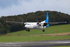 XA-UZG Fokker 50 Maya Air (Dougie Edmond) Tags: plane airplane delivery egpk airport aircraft