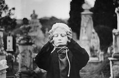 Cemetery poem II (Victoria Yarlikova) Tags: monochrome film zenit122 35mm cemetery analog grain scan dust smallformat vintage retro