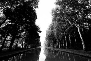 The Canal leading to Nevers, France