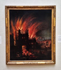 The Great Fire Of London, With Ludgate And Old St. Paul's (ArtFan70) Tags: thegreatfireoflondonwithludgateandoldstpauls thegreatfireoflondon greatfireoflondon centerforbritishart artmuseum yaleuniversity yale newhaven connecticut ct newengland unitedstates usa america art painting fire disaster greatfireof1666 greatfire ludgateprison