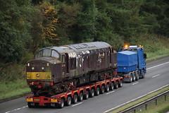37214 on M74 near Hamilton, Glasgow (Paul Emma) Tags: uk scotland glasgow hamilton train dieseltrain 37214 class37 m74 motorway