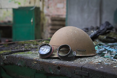safety first (jkatanowski) Tags: forgotten urbex urban exploration decay lost helmet indoor canon sigma 1835mm abandoned workshop poland europe dust