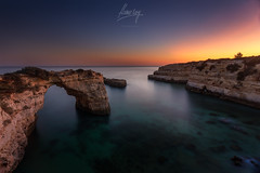 Albandeira Sunset (flamesay) Tags: albandeira algarve portugal sunset amanecer playa beach seascape flamesay canon nd longexposure sky
