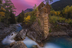 Neolithic (Michael Rickard) Tags: crystalmill crystalcity crystalriver mill americana sunrise longexposure colorado autumn foliage crystal sheepmountainpowerhouse