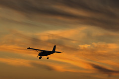 Flying to the sunset (Majorimi) Tags: sun sky clouds sunset fly airplane air siluet siluette nice colour color red silhouette