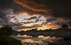 Storm (cliveg004) Tags: riveravon eckingtonwharf eckington worcestershire river reflection clouds sunset storm rain boats nikon d5200