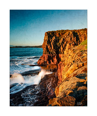 Kiama Colours (Mike Hankey.) Tags: coastal published bombo focus sunrise seascape kiama walk