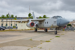 US Navy Douglas A3D / NTA-3B Skywarrior (Mark_Aviation) Tags: us navy douglas a3d nta3b skywarrior ex raytheon test bed n877rs 29082017 hawaii pacific aviation museum ford island nas aircraft airplane airport airbus airlines aerospace aeroplane arriving airshow arrival oahu plane military jet