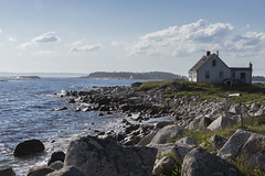Living On The Edge (SNAPShots by PJW *Join LNP*) Tags: peggyscove lighthouse clouds sky light contrast buildings colourful camping outside nature landscape sea water wet reflections patterns textures rocks beach waves seascapes exploring green detail depthoffield dof