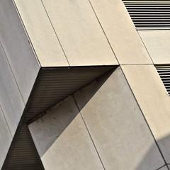 Urban Abstract No 54 (llawsonellis) Tags: grills texture concrete monochrome beige modern urban crop selection minimal abstract nikon nikond5300 shadows linear rhythms diagonals