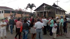 Inicio de la mision parroquial: salida por Playa Grande