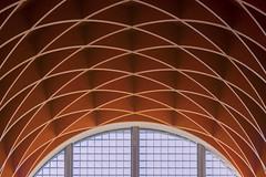Interplay of lines III (Jan van der Wolf) Tags: map166232v wood hout ceiling plafond lines lijnen curves museum windows raam ramen louwman symmetric symmetry symmetrie playoflines interplayoflines wassenaar