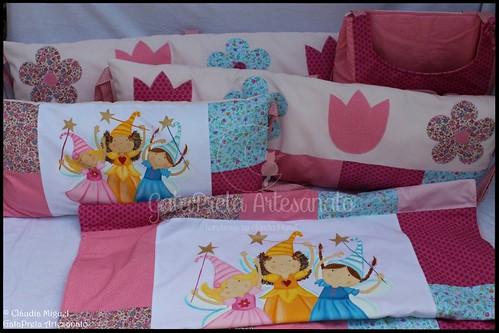 "Conjunto de berço/cama de grades ""Spring Fairies"""
