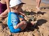 Château de sable (Dahrth) Tags: panasoniclumixgf1 gf120 lumix20mm micro43 microquatretiers microfourthirds boy kid sand sable plage sandcastle