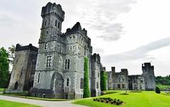 Ashford Castle on the Mayo/Galway Border in Ireland (Susan Roehl) Tags: irelandjune2013 countymayo ashfordcastle built1228 houseofburke 5starluxuryhotel manyadditionsovertheyears loughcorrib cityofcong mideval formerlyownedbyguiness sueroehl photographictours naturalexposures pentaxk200d handheld