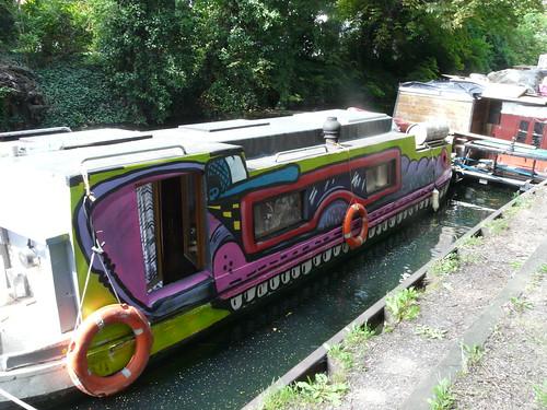 Decorated Narrowboat