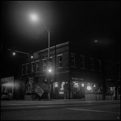 Main and Sheridan (argentography) Tags: yashica 124 brokentree peoria illinois midwest ilford hp5 monochrome noir blackandwhite