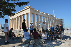 Getting ready to explore the Parthenon