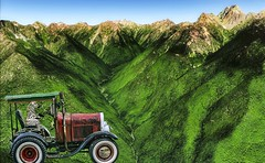 Zebra Mountain (Rusty Russ) Tags: zebra old tractor car strange mountain canadian rockies green colorful day digital graffiti window flickr country bright happy colour eos scenic america world sunset beach water sky red nature blue white tree art light sun cloud park landscape summer city yellow people new photoshop google bing yahoo stumbleupon getty national geographic creative composite manipulation hue pinterest blog twitter comons wiki pixel artistic topaz filter on1 image