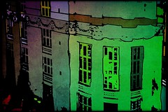 Wielopole, Kraków [ii] (kazimierz.pietruszewski) Tags: digipaint digitalpainting digitalart kraków cracow poland polska canvas border street pictorial pictorialism salonpolski