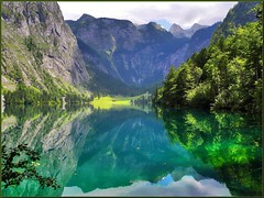 Wonderful Obersee (almresi1) Tags: königsee bavaria oberbayern berchtesgaden schönau see lake berge mountains spiegelung mirroring rocks felsen wald forest wettersteingebirge