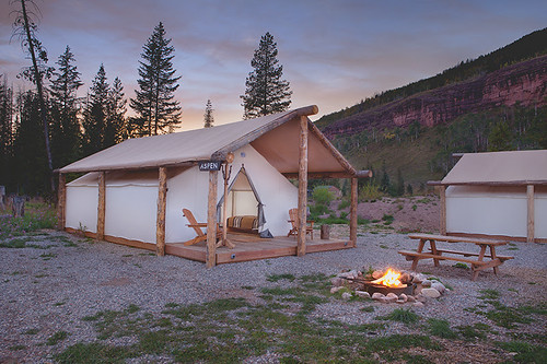 Glamping Tent_Aspen_Exterior_Sunset_LowRes