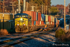 CSX 657 | GE AC6000CW | BNSF Thayer South Subdivision (M.J. Scanlon) Tags: bnsf bnsfrailway bnsfthayersouthsub burlingtonnorthernsantafe burlingtonnorthernsantaferailway csx657 ge ac6000cw ac60cw q179 csxq179 intermodal container sunrise memphis tennessee digital merchandise commerce business wow haul outdoor outdoors move mover moving scanlon canon eos engine locomotive rail railroad railway train track horsepower logistics railfanning steel wheels photo photography photographer photograph capture picture trains railfan