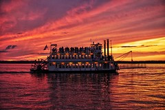 Victorian Princess on Sunset cruise in Presque Isle Bay (dalesins) Tags: