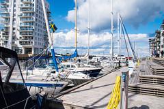 At the marina (Maria Eklind) Tags: boatlife building dockan water sweden outdoor clouds moln dock malmö marina krankajen citylife boat dockanmarina himmel marine city skånelän sverige se