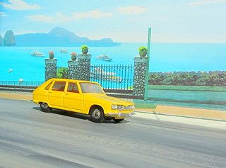 Dinky Toys Renault R16 No.166 1967 : Diorama PS2 GT4 Computer Game Backdrop Costa di Amalfi - 22 Of 31