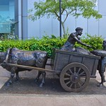 Bronze sculpture beside the Singapore river in the CBD thumbnail
