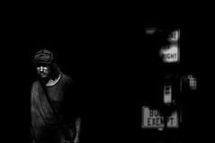I'm on My Way   !!!!!!!!! (imagejoe) Tags: vegas nevada strip street black white photography photos shadows reflections people nikon