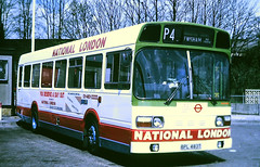 Slide 101-76 (Steve Guess) Tags: lewisham london england gb uk bus lcbs country snb national advert routep4 regional transport lrt contract tendered bpl483t snb483
