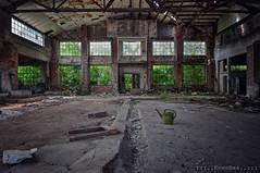 great emptiness (Knee Bee) Tags: factoryhall emptiness decay marmorwerk wateringcan urbex industrial