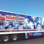 Tractor Trailer Combination Honourable Mention: Highlight Motor Group;  graphics by Turbo Images