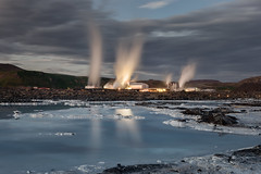 The Blue Lagoon (Andrew G Robertson) Tags: blue lagoon iceland keflavik long exposure night midnight bláa lónið grindavik industry industrial factory