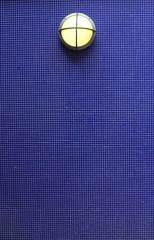 . (SA_Steve) Tags: nyc newyorkcity eastvillage blue tile wall light lamp grid