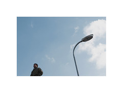 2120115 (ufuk tozelik) Tags: ufuktozelik street streetlamp man person stand sky urban clouds pole abstract standing