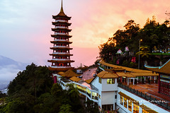 pagoda sunset (Dingo photography) Tags: sun sunset sky pagoda chinswee chinsweetemple chinese goldenhour orange architecture landscape temple outdoor travel travelphotography gentinghighlands malaysia genting malaysianphotographers dingophotography timelessframes d750 tamron2875mm tamron dslr nikon