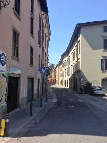 Typical street in the Lower City, Bergamo