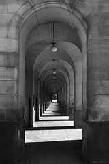 Shadows and Imperfections (andyrousephotography) Tags: manchester townhallextension stpeterssquare corridors arches shadows lamps broken missing cobwebs symmetry alignment annoying fakeit photoshop couldntbebothered andyrouse canon eos 5dmkiii 5d3 ef24105mmf4l
