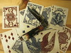 Civil War Blue (CapCase) Tags: knife pocketknife cutlery cards playingcards ace aceofspades queenofhearts case trapper joker civilwar grant boyd beauregard