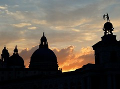 Magical Places and Things - Venice (2) (The Spirit of the World) Tags: venice italy europe roofs rooftops decorative architecture sun light clouds sunset evening dusk silhouettes