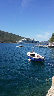 Cruiser sails into Bay of Kotor